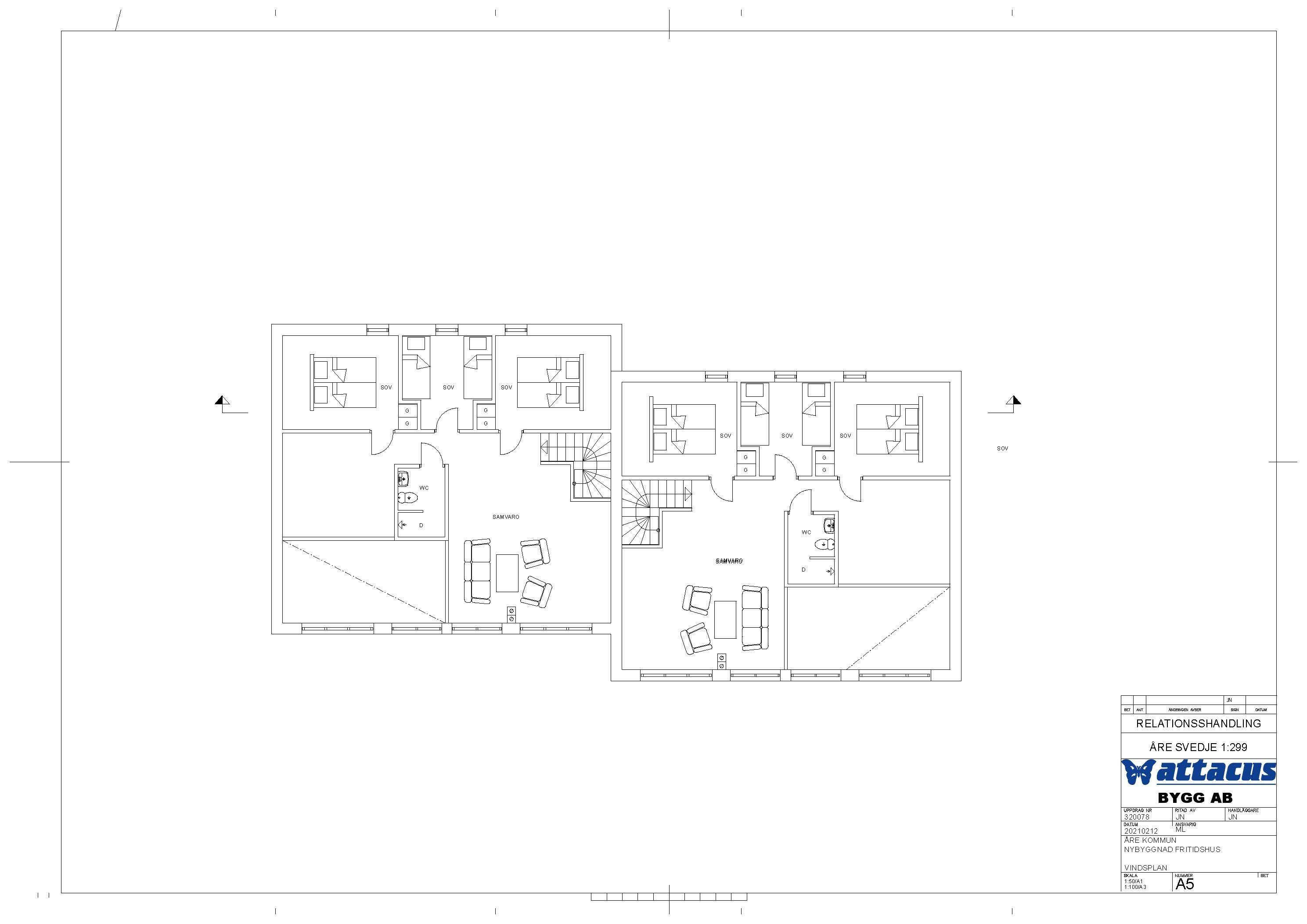 A5 Relationsritning Vindsplan 2021-02-12